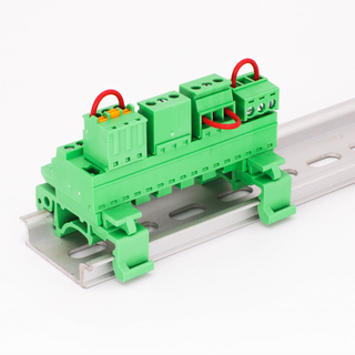 3.81mm Pitch YE3230-381 Pluggable Din Rail Terminal Block 2-24 Poles